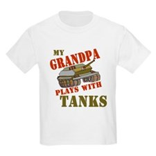 Grandpa Plays with Tanks T-Shirt