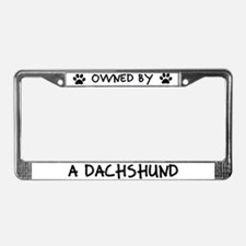 Owned by a Dachshund License Plate Frame