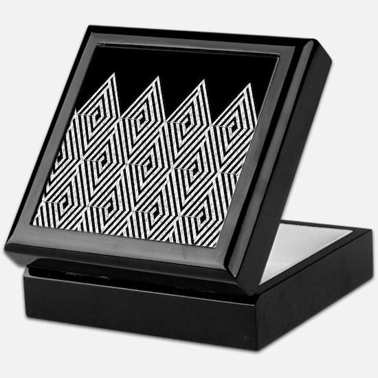 Zigzag Tribal pattern Keepsake Box