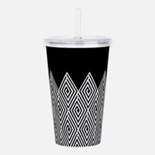 Zigzag Tribal pattern Acrylic Double-wall Tumbler
