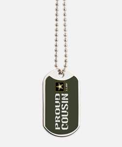 U.S. Army: Proud Cousin (Military Green) Dog Tags