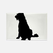 Barbet dog silhouette Magnets