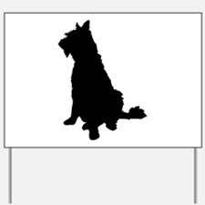 Barbet dog silhouette Yard Sign