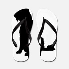 Barbet dog silhouette Flip Flops