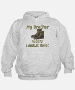 My Brother Wears Combat Boots Hoodie
