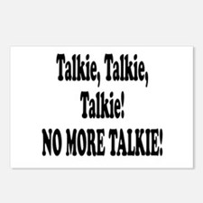 NO MORE TALKIE! Postcards (Package of 8)