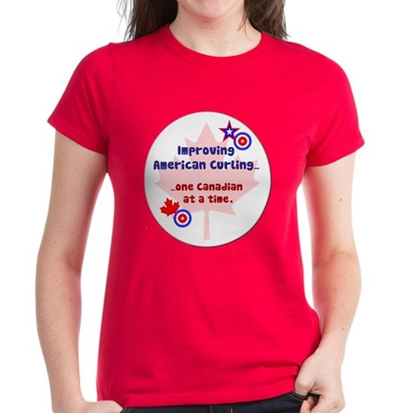 """US-CA Curling"" Women's Dark T-Shirt"