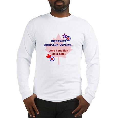 """US-CA Curling"" Long Sleeve T-Shirt"