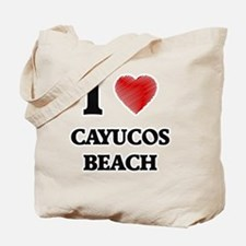 I love Cayucos Beach California Tote Bag