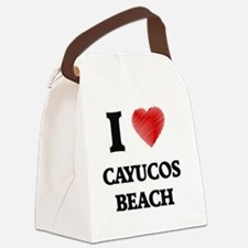 I love Cayucos Beach California Canvas Lunch Bag