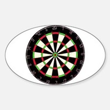 Dartboard Oval Decal