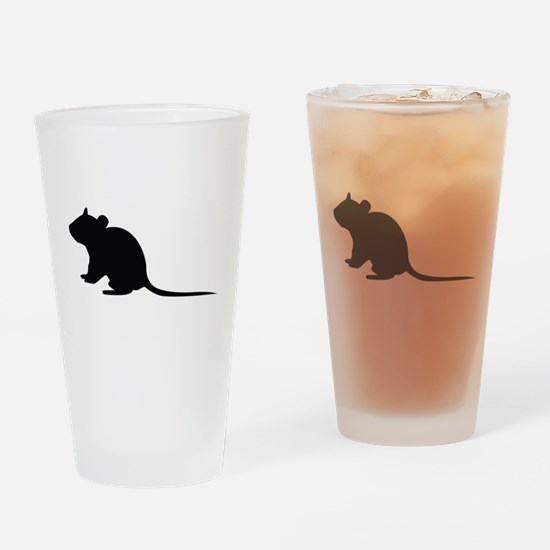 Rat silhouette Drinking Glass