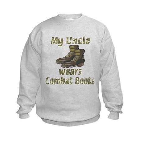 My Uncle Wears Combat Boots Kids Sweatshirt