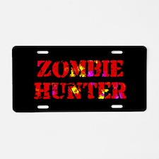 Zombie Hunter Aluminum License Plate