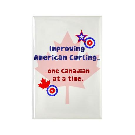 """US-CA Curling"" Rectangle Magnet (10 pack)"