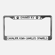 Owned by Cavalier Spaniels License Plate Frame