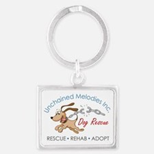 Unchained Melodies Dog Rescue Logo Hi-Res Keychain