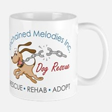 Unchained Melodies Dog Rescue Logo Hi-Res Mugs
