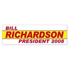 BILL RICHARDSON PRESIDENT 200 Bumper Bumper Sticker