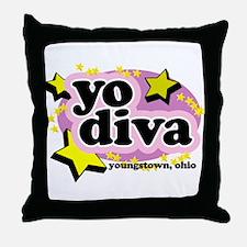 YO Diva Throw Pillow