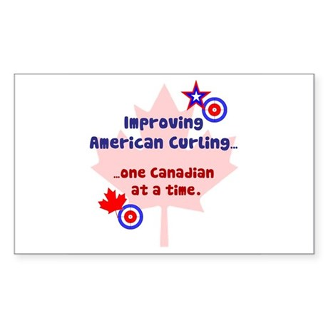"""US-CA Curling"" Rectangle Sticker"