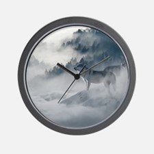 Wolf Animal Wildlife Art Wall Clock