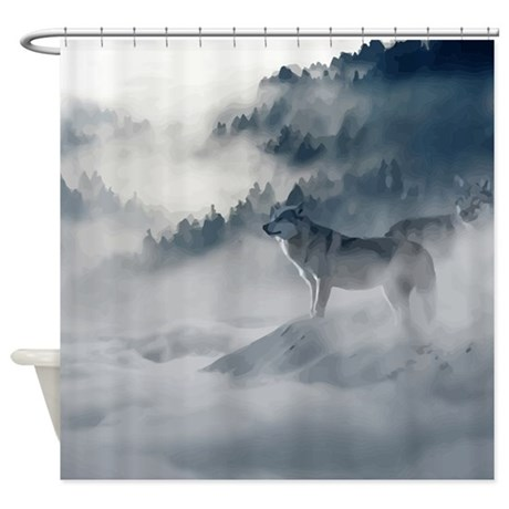 Wolf Animal Wildlife Art Shower Curtain By ADMIN CP18689551