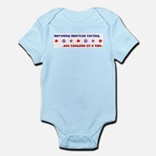 """US-CA Curling"" Infant Bodysuit"