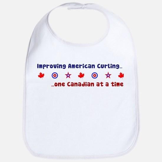 """""""US-CA Curling"""" Bib"""