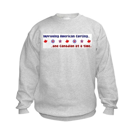 """US-CA Curling"" Kids Sweatshirt"