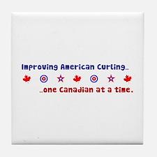 """US-CA Curling"" Tile Coaster"