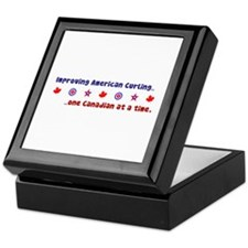 """US-CA Curling"" Keepsake Box"