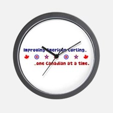 """US-CA Curling"" Wall Clock"