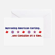 """US-CA Curling"" Greeting Card"
