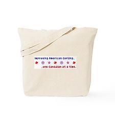 """""""US-CA Curling"""" Tote Bag"""
