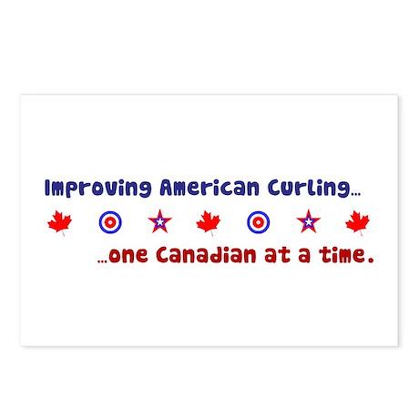 """US-CA Curling"" Postcards (Package of 8)"