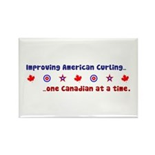 """US-CA Curling"" Rectangle Magnet"