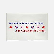 """US-CA Curling"" Rectangle Magnet"