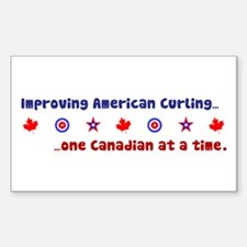 """US-CA Curling"" Rectangle Decal"