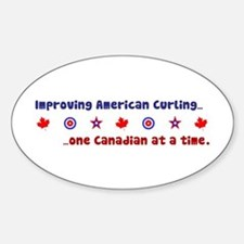 """US-CA Curling"" Oval Decal"