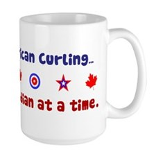 """US-CA Curling"" Ceramic Mugs"