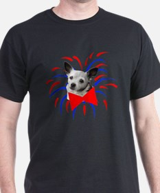 Cute Dog With Fireworks T-Shirt