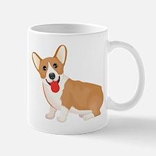 Pembroke welsh corgi dog showing tongue Mugs