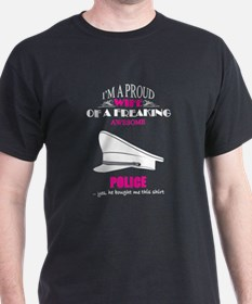 Proud Wife Of Freaking Awesome Police T-Shirt