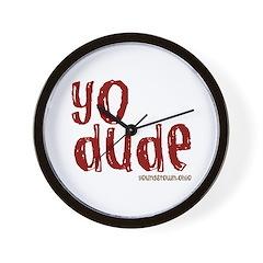 YO Dude Wall Clock
