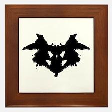 Rorschach Inkblot Framed Tile