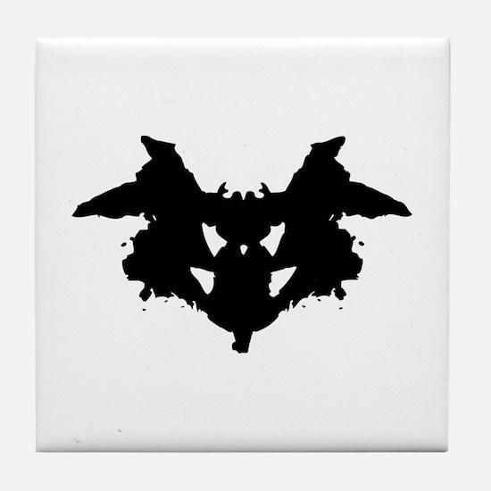 Rorschach Inkblot Tile Coaster