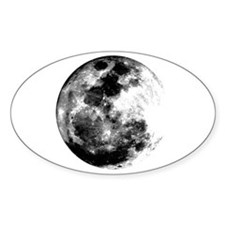 Full Moon Oval Decal