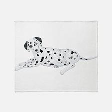 Sitting Dalmatian Throw Blanket