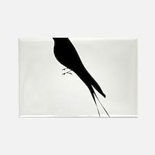Bird stand tree vine silhouette clip art Magnets